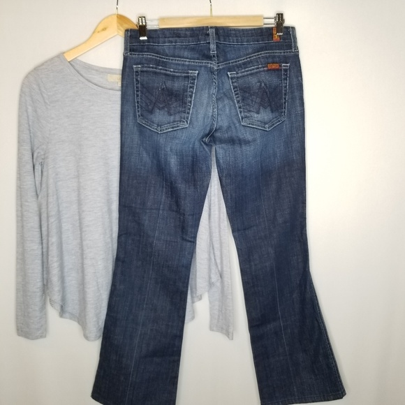 7 For All Mankind Denim - 7 For All Mankind 'A' Pocket Bootcut Low Rise 29